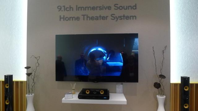 Imponerende lyd i dette LG-testrommet med DTS-lyd i mange kanaler.