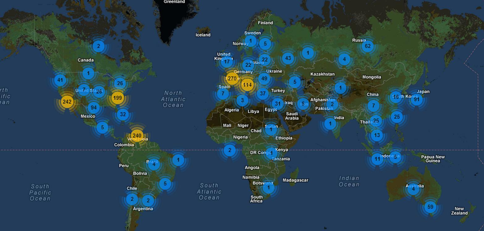 USA er landet med flest aktive botnet-kommando-servere.